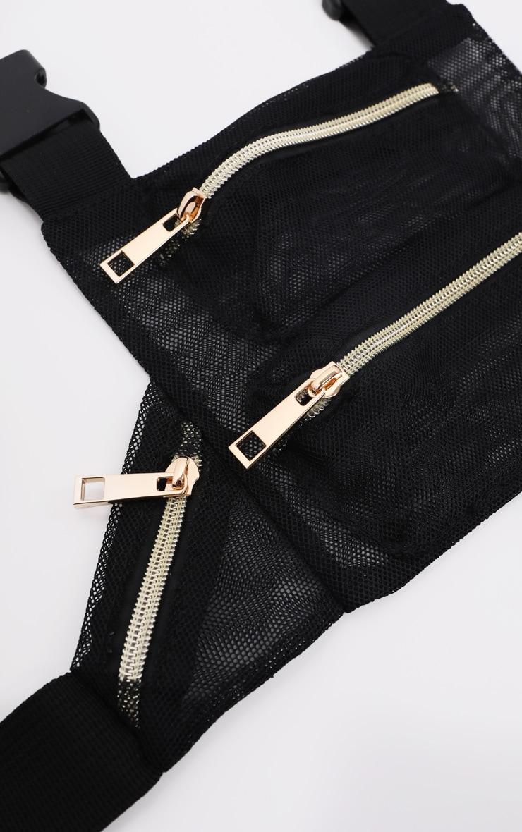 Black Mesh Front Bag 3
