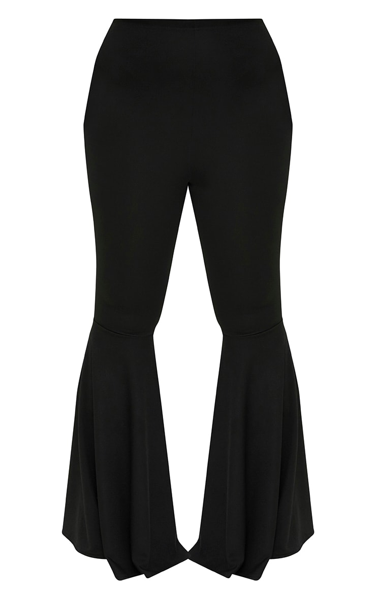 Plus Black Fit and Flare Leg Trousers 3