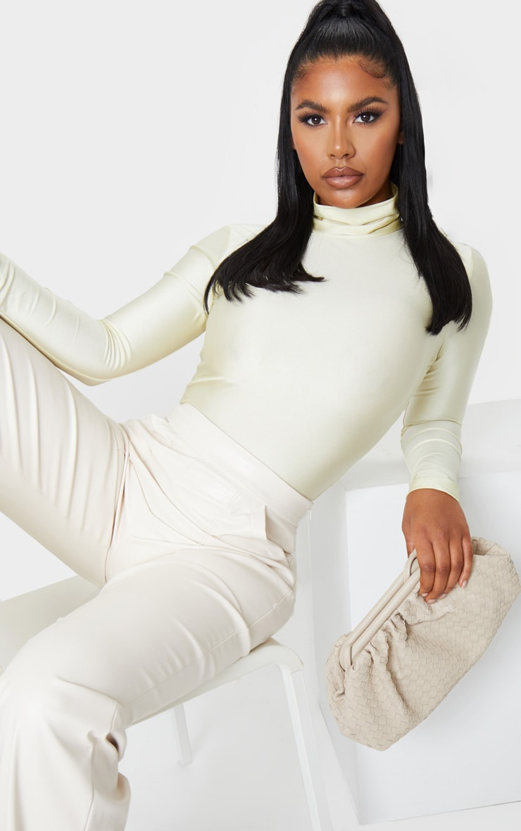 Champagne Disco High Neck Long Sleeve Bodysuit 2