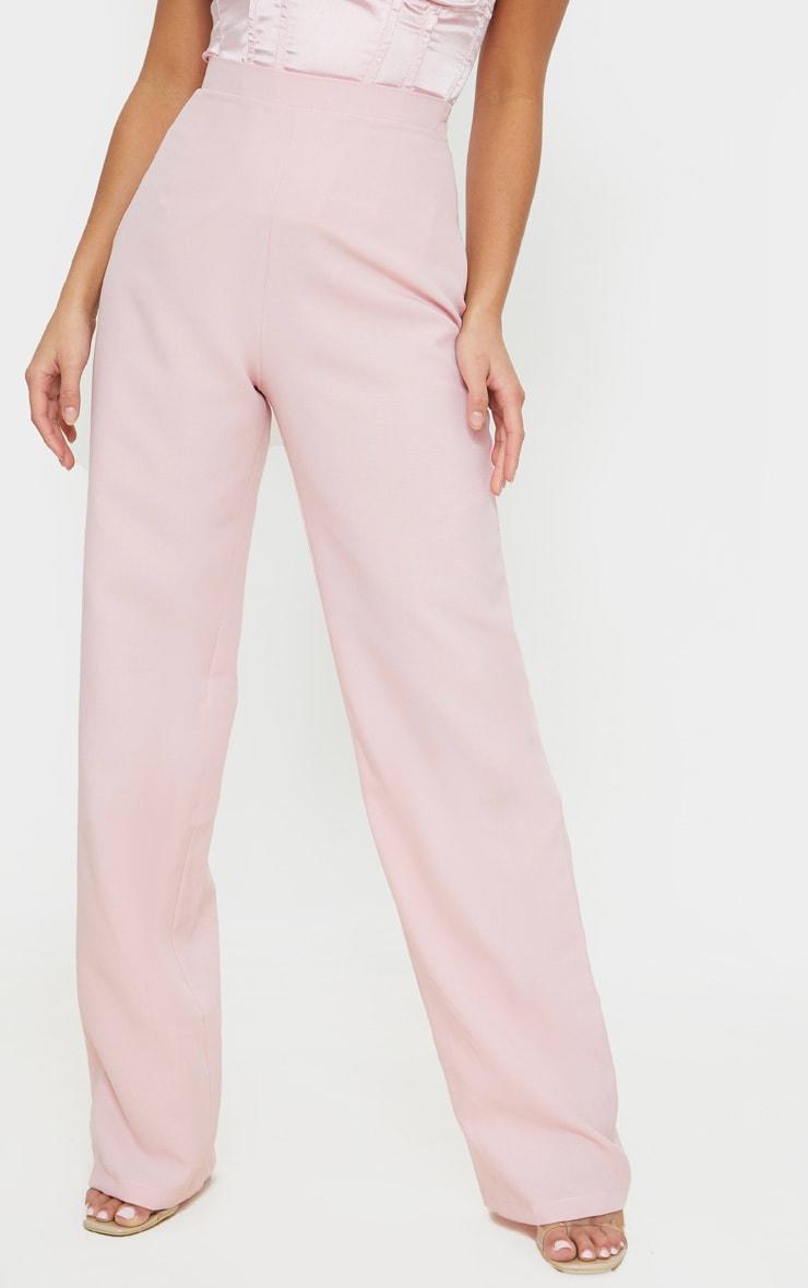 Petite Dusty Pink Wide Leg Suit Trousers 2