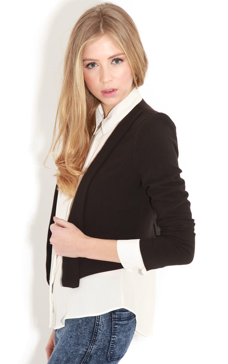 Eadie Black Cropped Blazer  4