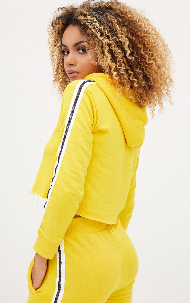 Yellow Side Stripe Hoodie 1