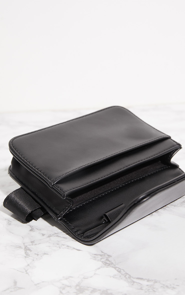 Black PU Rectangle Bum Bag 5