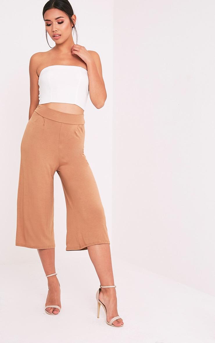Basic jupe-culotte camel 1