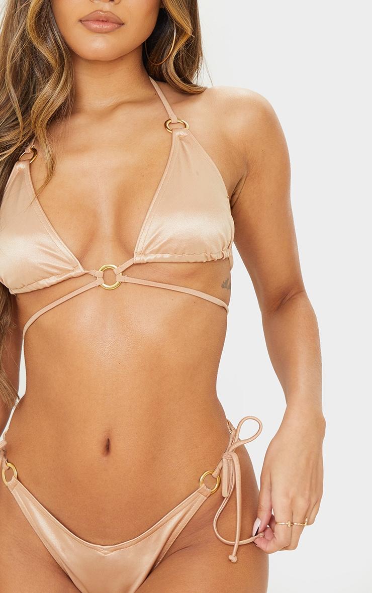 Rose Gold Metallic Wrap Around Bikini Top 4