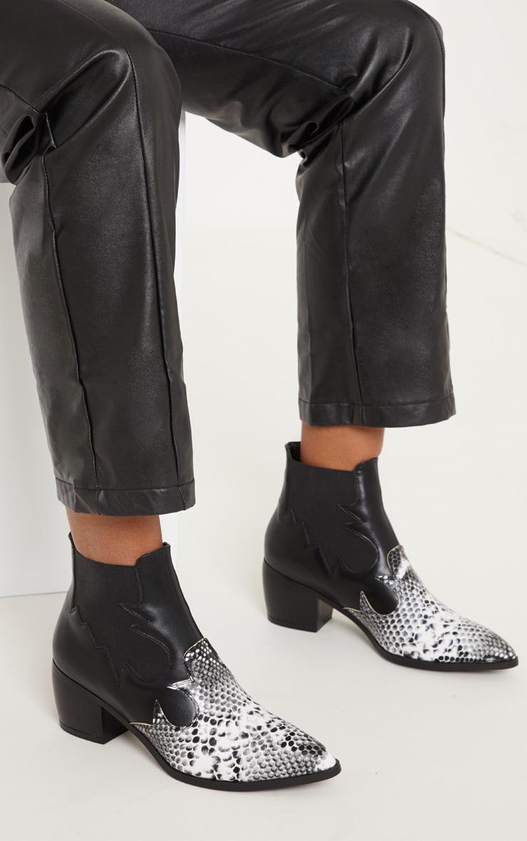 Black Snake Western Boot