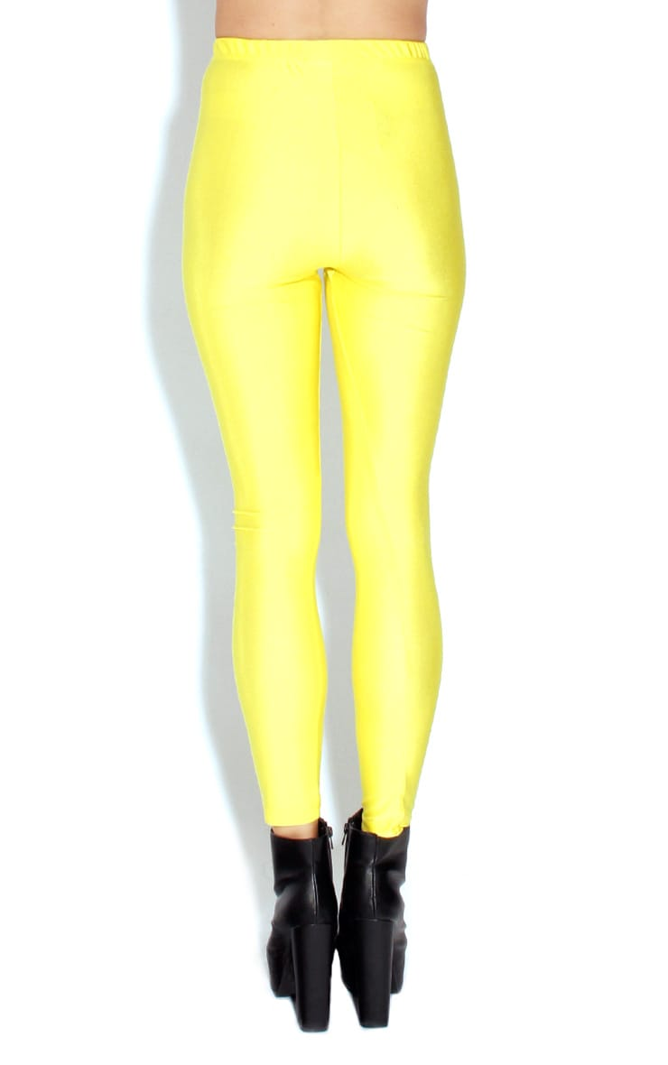 Chloe Yellow High Waisted Disco Pants 2