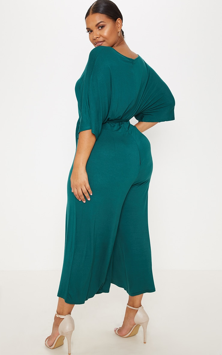 Plus Emerald Green Culotte Jumpsuit 2
