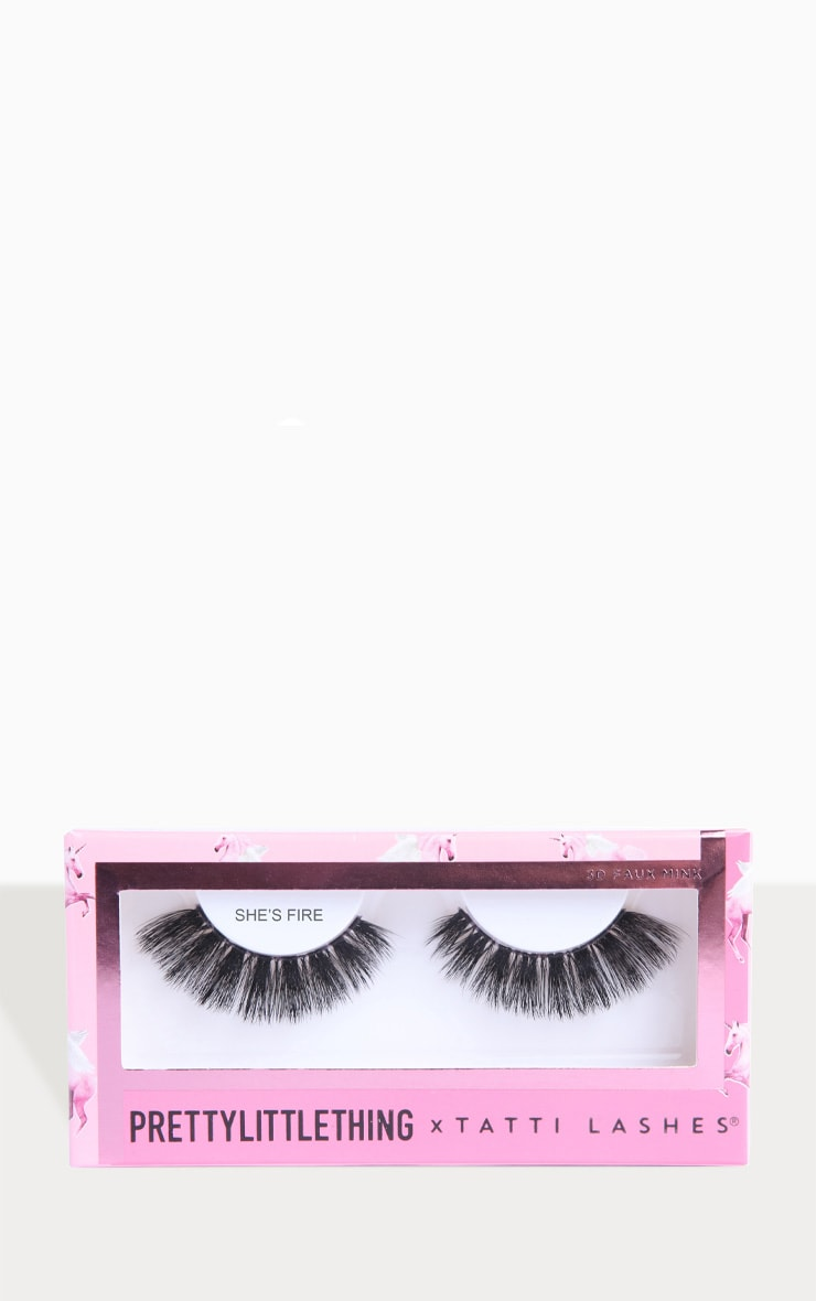 PRETTYLITTLETHING X Tatti Lashes She's Fire 4