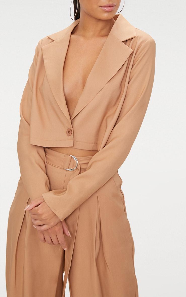 Camel Cropped Blazer  5