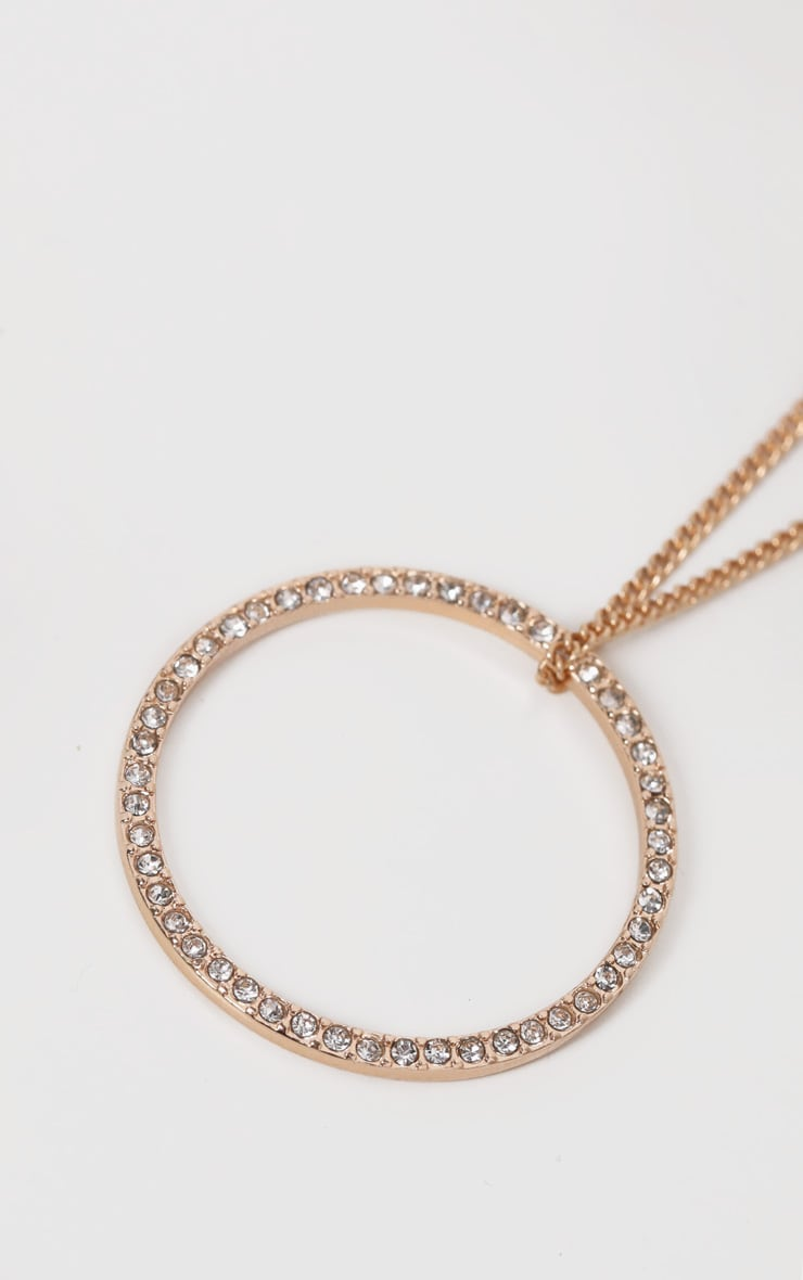 Gold Delicate Ring Necklace 4