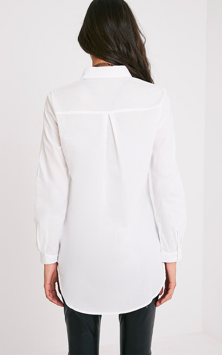 Analyn White Drop Hem Shirt 2