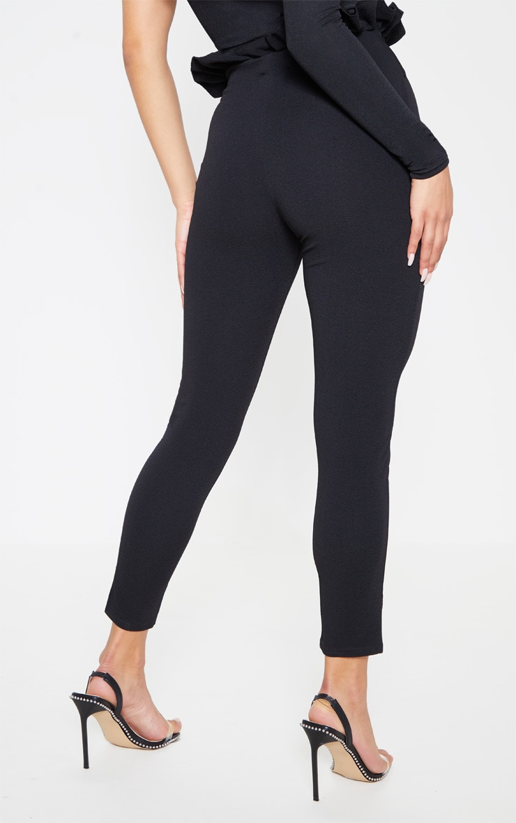 Perlita Black Paperbag Skinny Trousers 4