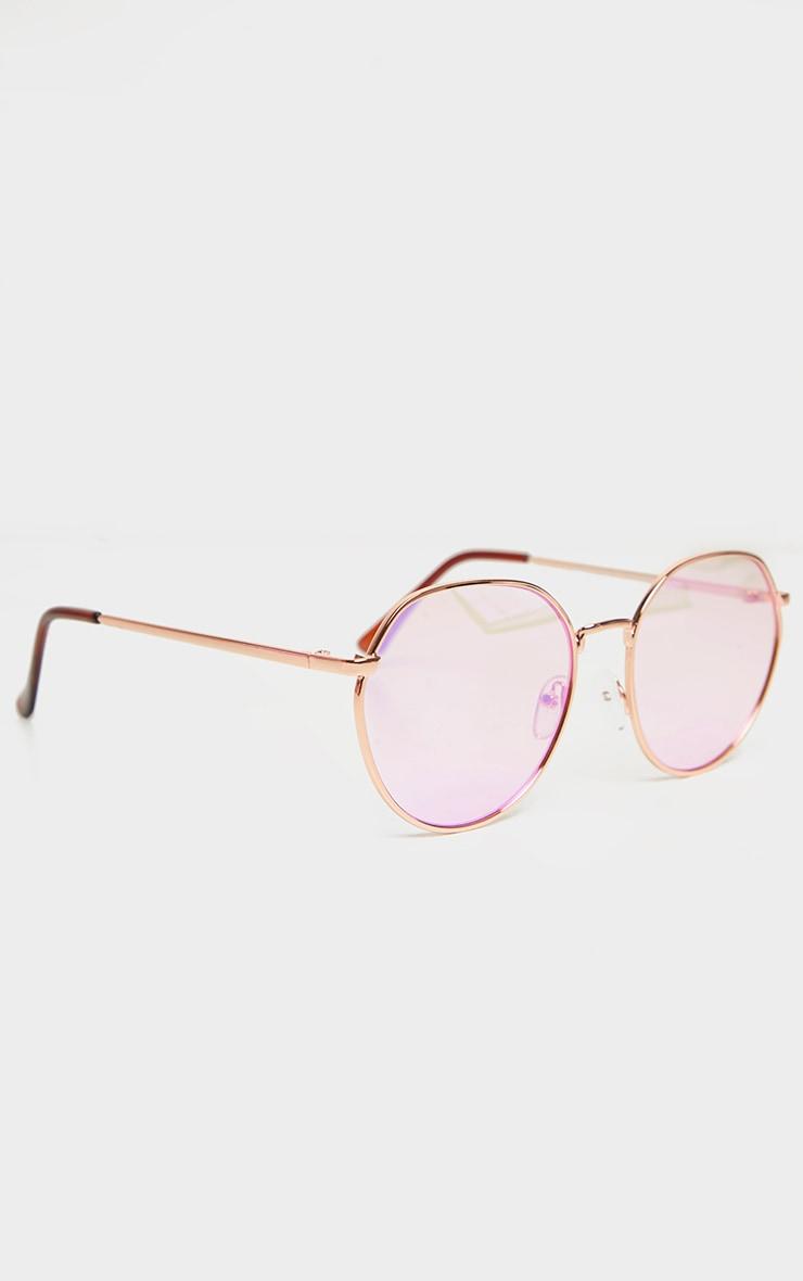 Pink Revo Round Sunglasses 3