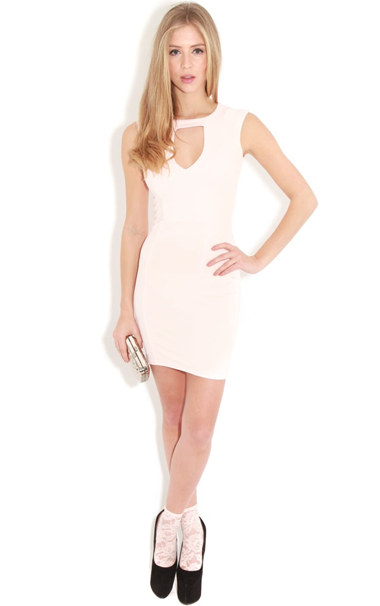 Henrietta Pale Pink Tailored Chiffon Dress 3