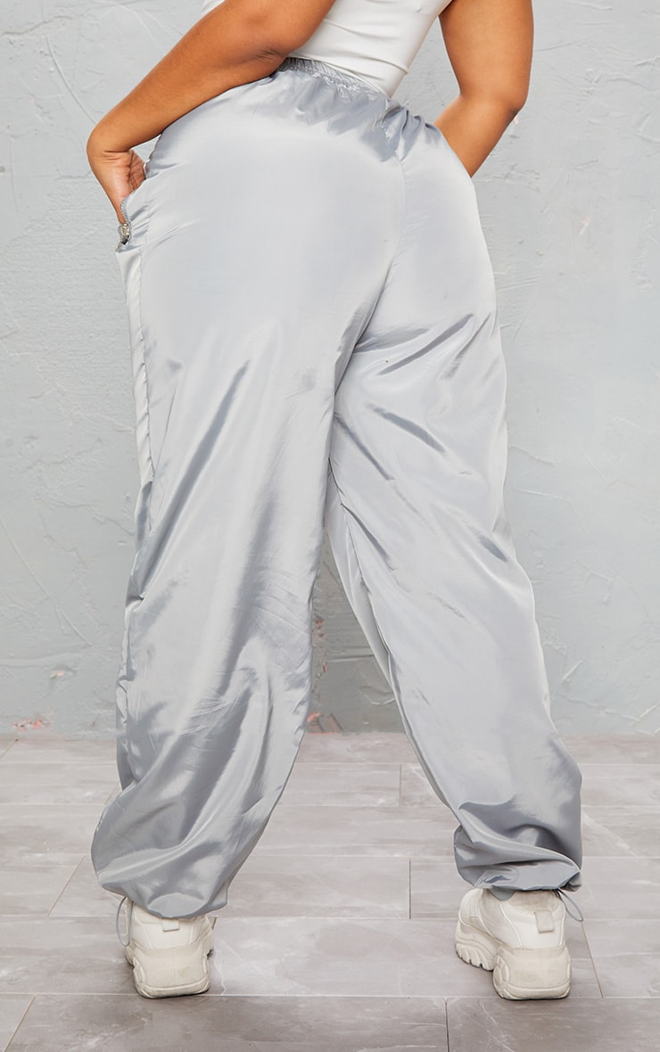 KARL KANI Ice Grey Embroidered Shell Joggers 6