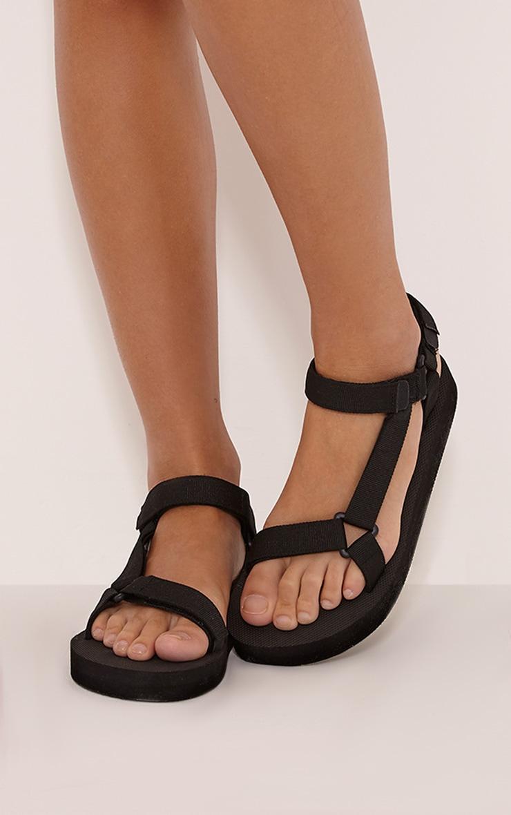 Nina Black Harness Strap Sliders 1
