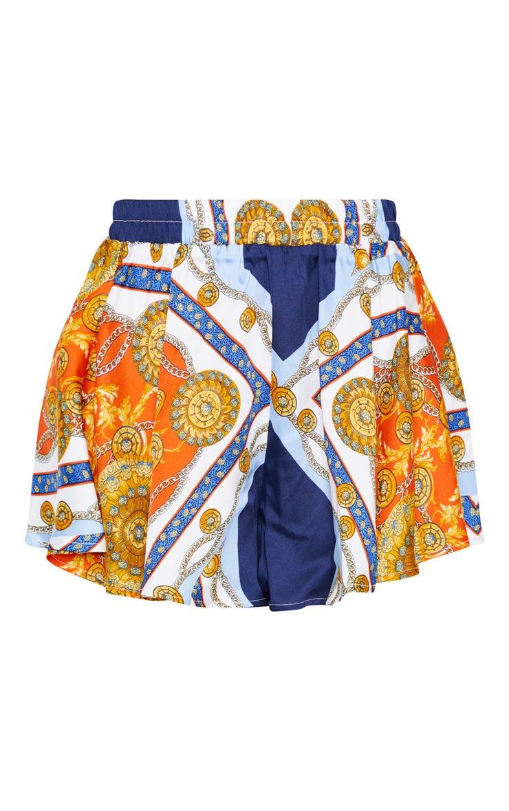 Multi Scarf Print Floaty Shorts  3