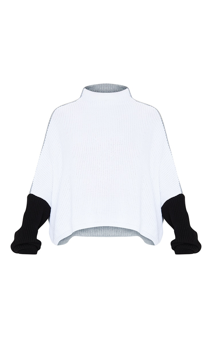 Monochrome Oversized Colour Block Sweater 5
