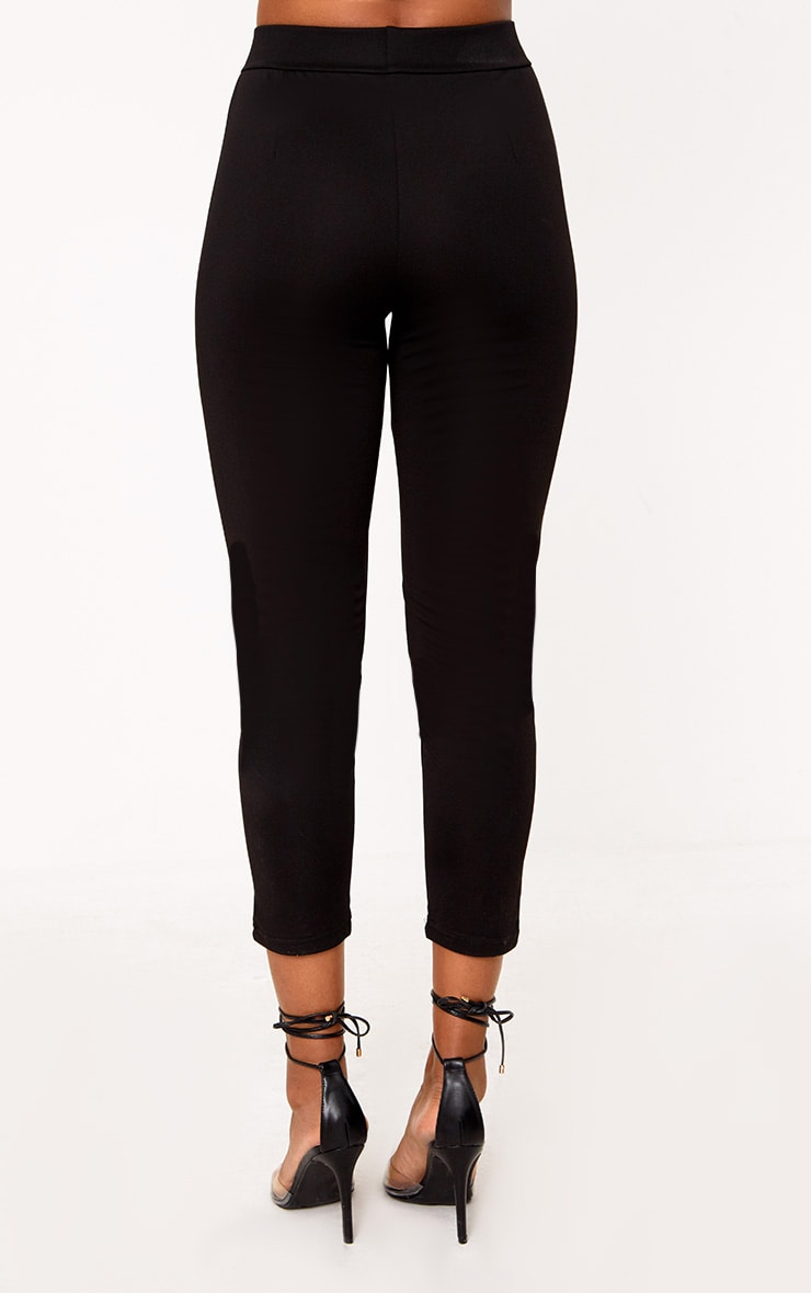 Black Side Stripe Pants 4