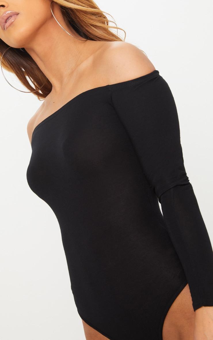 Petite Black Basic Bardot Bodysuit 6