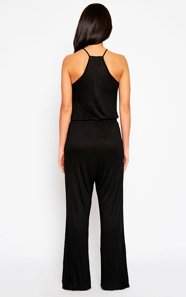 Esme Black Jersey Wide Leg Jumpsuit 2