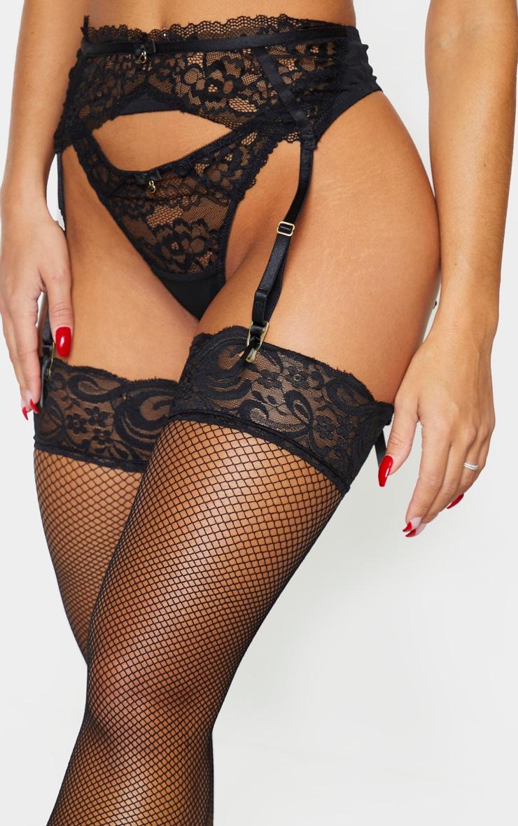 Black Ann Summers Sexy Lace Suspender Belt 4