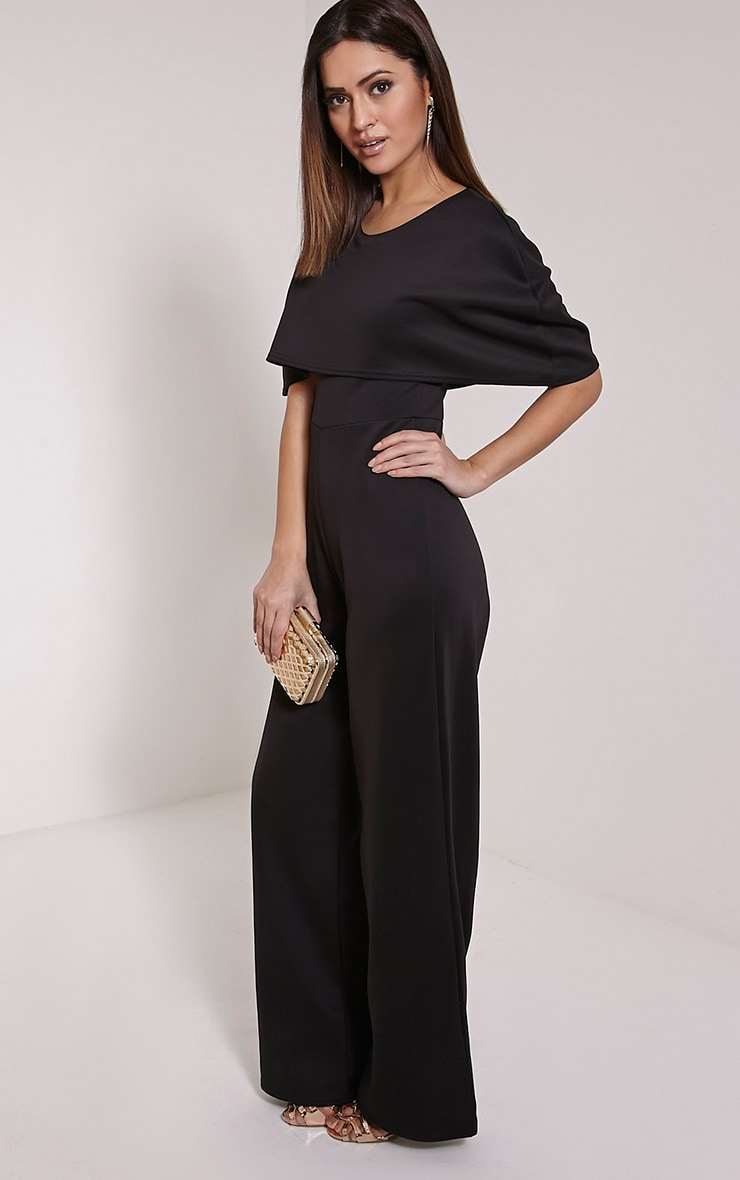 Claudie Black Cape Jumpsuit 3