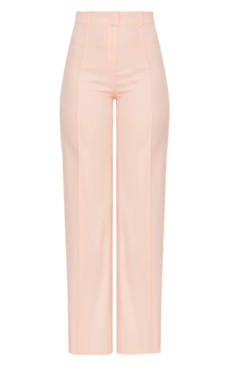 Blush High Waisted Straight Leg Trousers 3