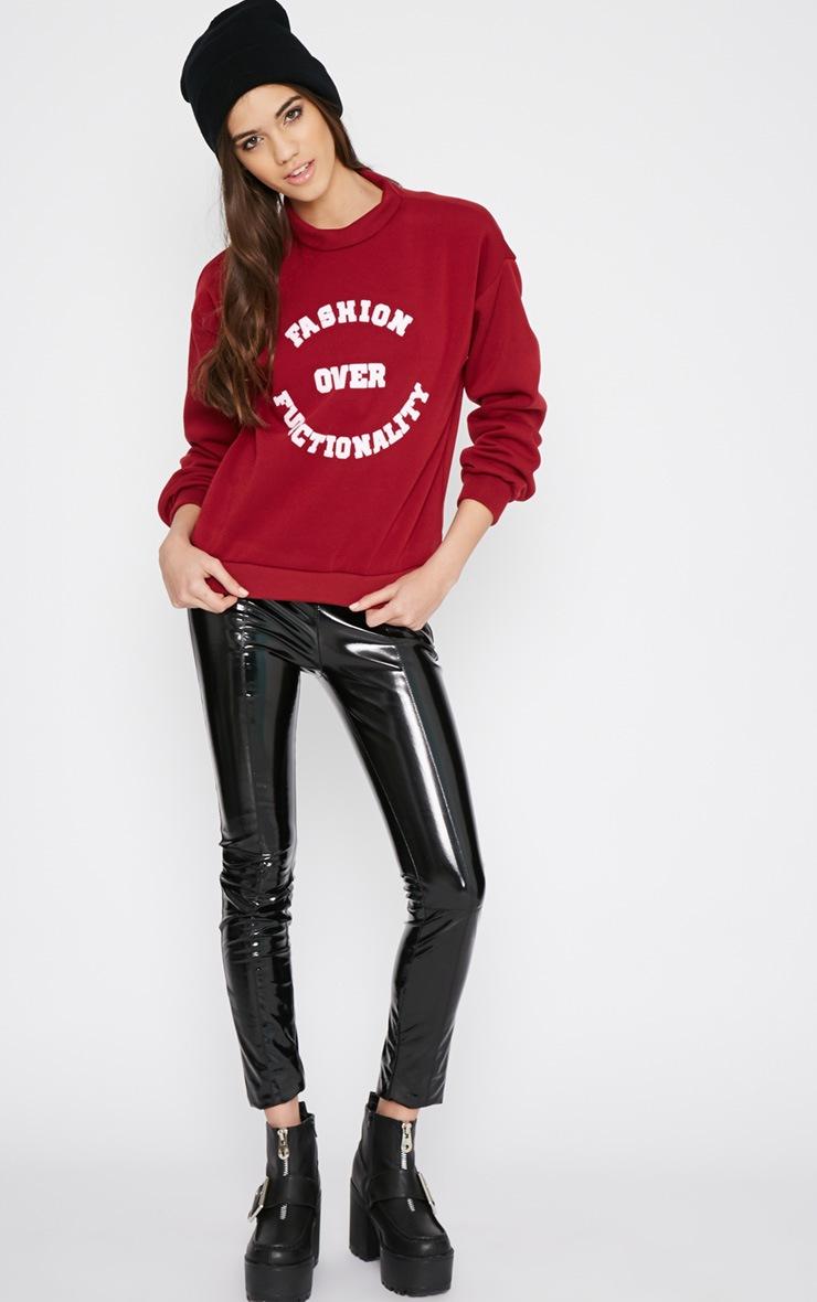Madison Burgundy Fashion Over Functionality Sweater 5