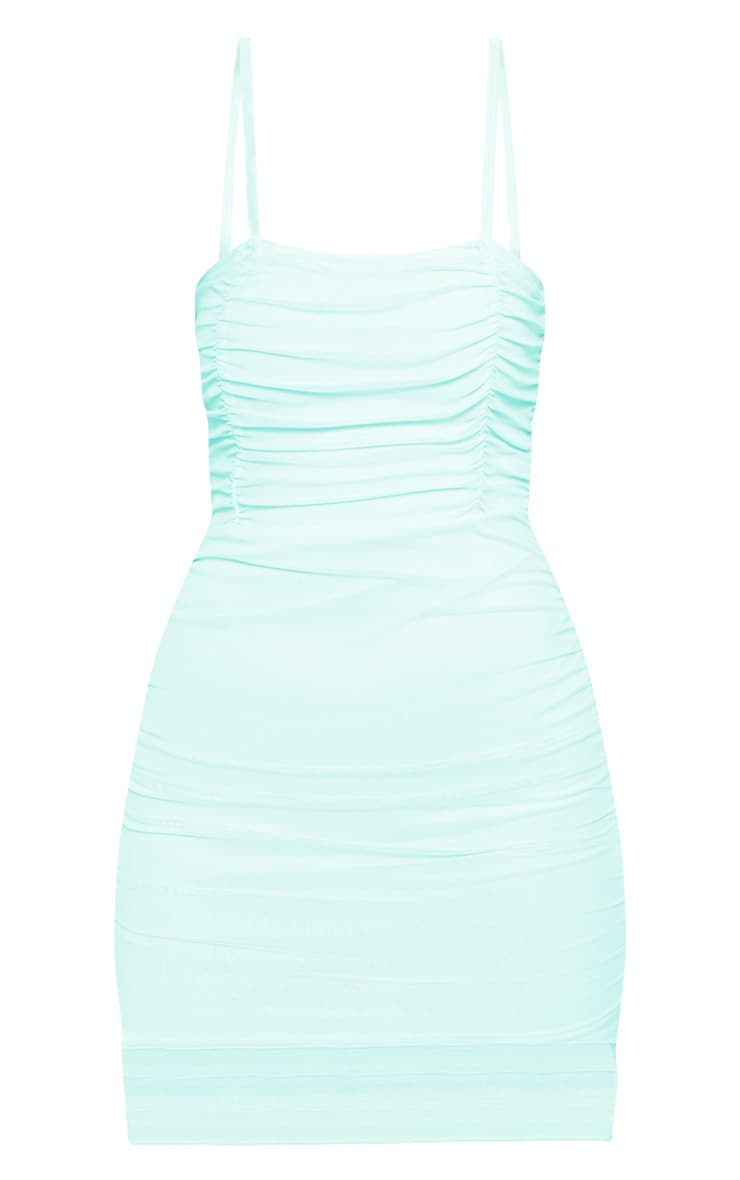 Mint Ruched Bodycon Dress 3