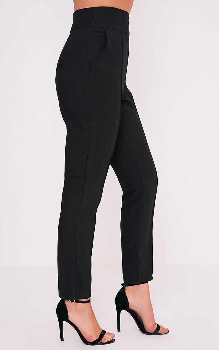 Wendy pantalon à ourlet sur le devant noir 5