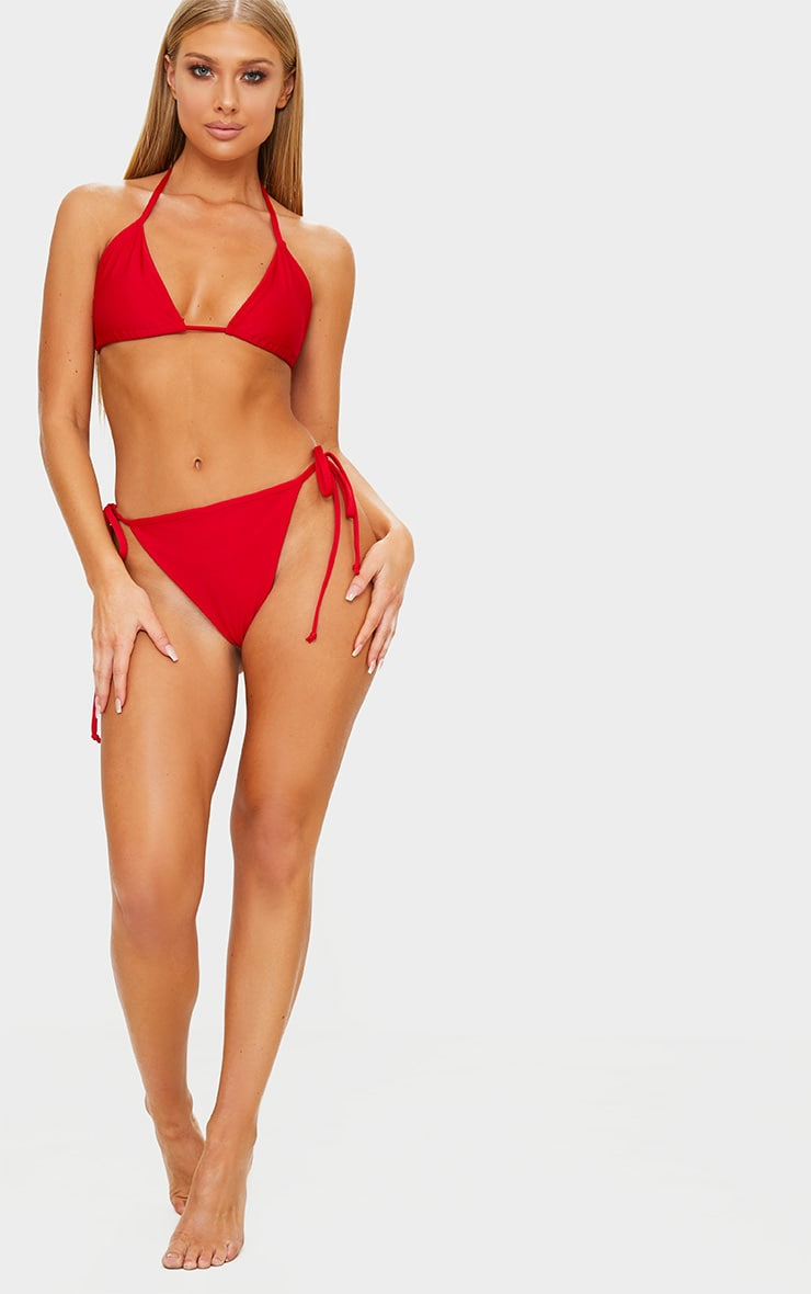 Red Mix & Match Triangle Bikini Top 4