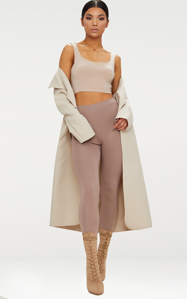 Veronica Beige Oversized Waterfall Belt Coat