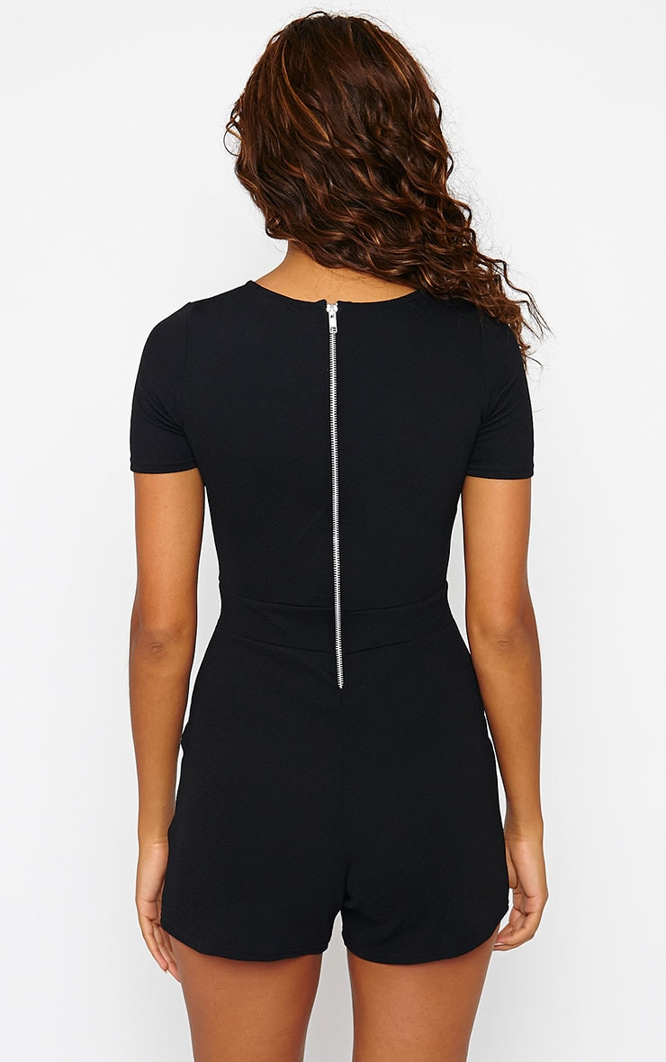 Brayden Black Pocket Front Playsuit 2