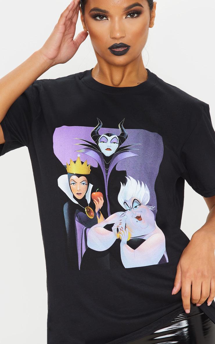 Black Disney Villains Oversized T Shirt 5