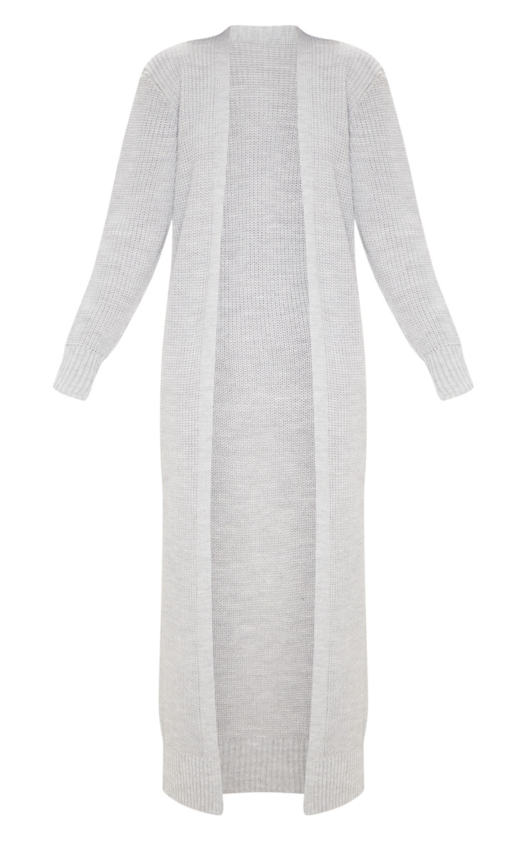 Light Grey Maxi Knitted Cardigan 3