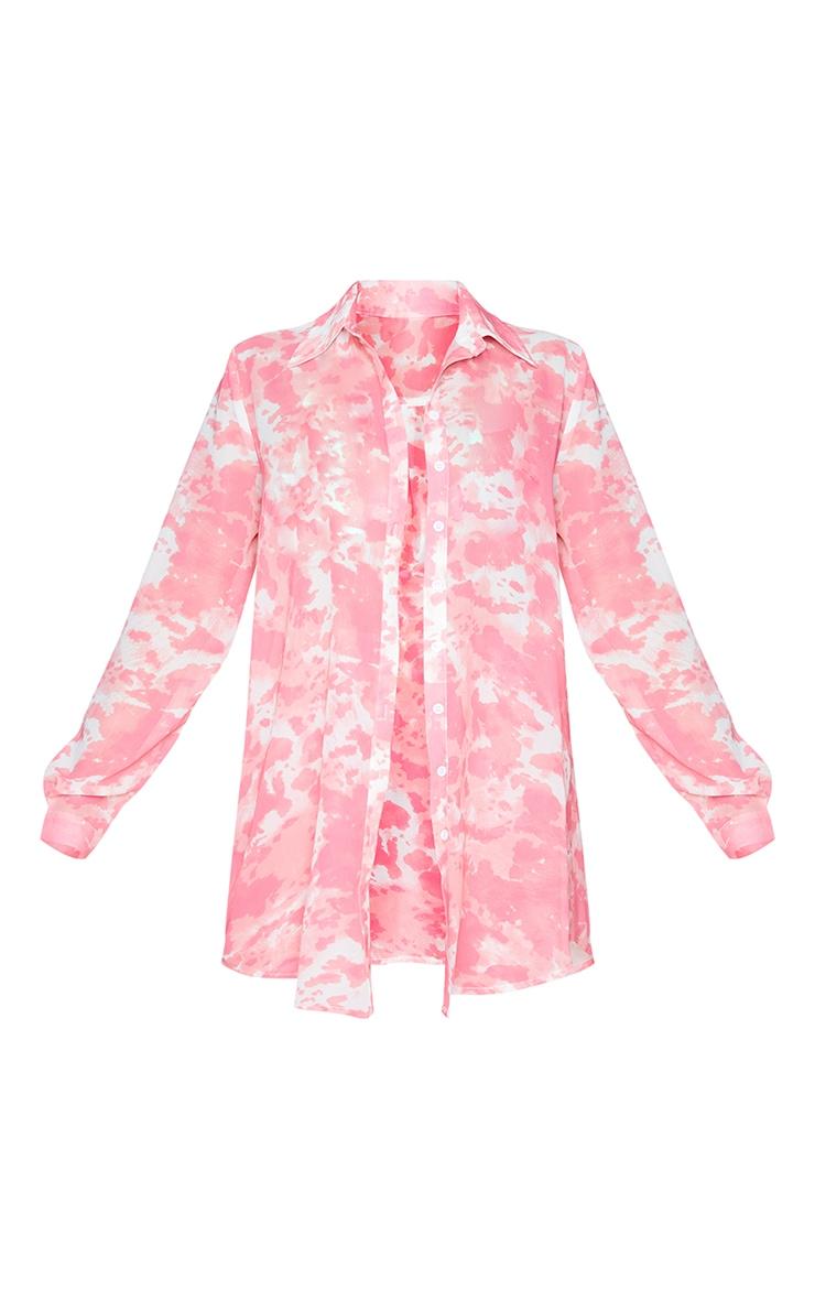 Pink Cow Print Beach Shirt 5