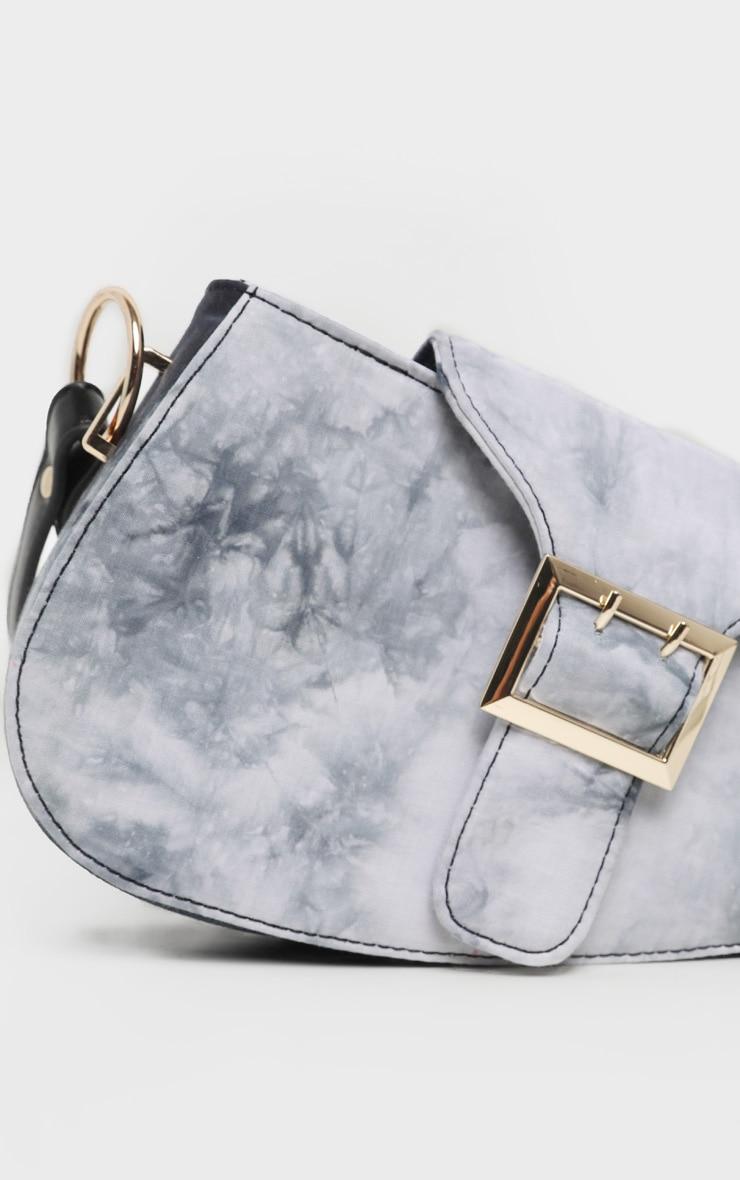 Black Tie Dye Saddle Bag 4