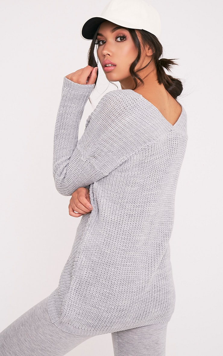Hollilia Grey V Hem Jumper 4