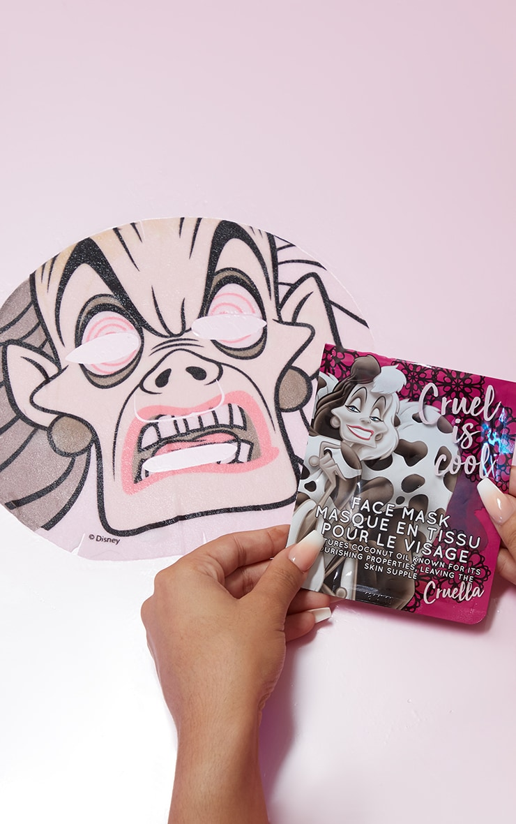 Disney Villains Sheet Face Mask Cruella by Prettylittlething