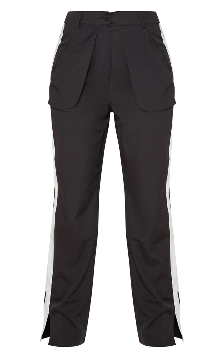 Petite Black Inside Out Pocket Trouser 3