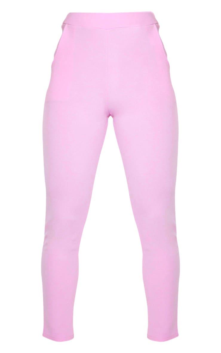 Lilac Crepe Skinny Pants 3