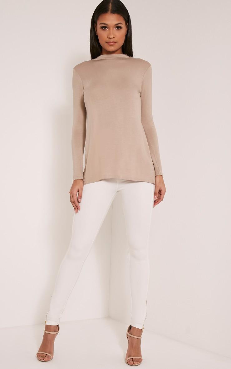 Tanya Stone Split Back Long Sleeve T Shirt 4
