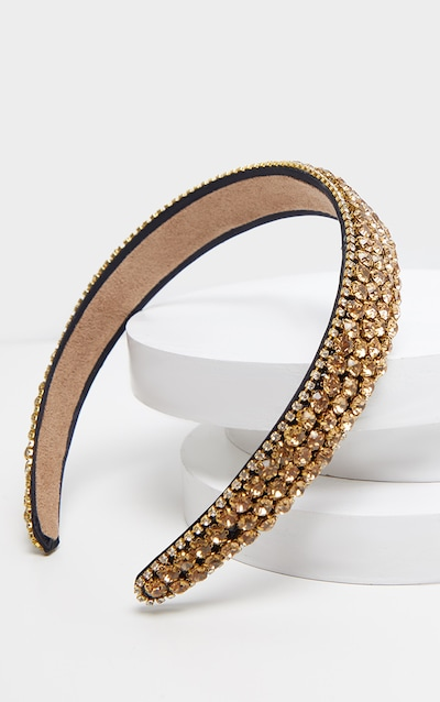 Gold All Over Diamante Headband