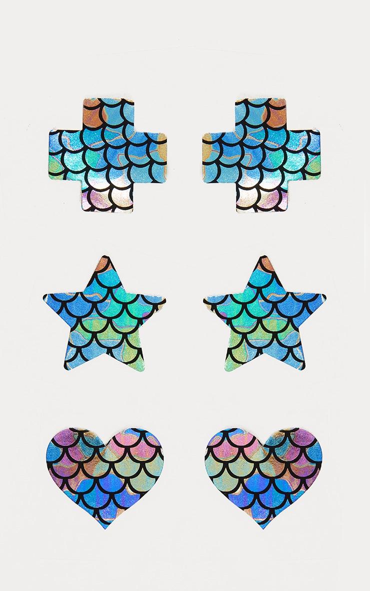Multi 3 Pack Mermaid Nipple Covers 1