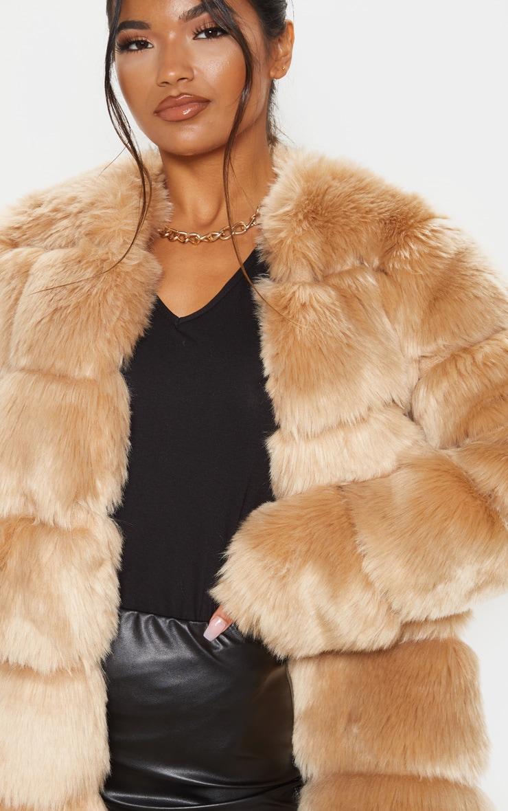 Stone Faux Fur Bubble Coat 5