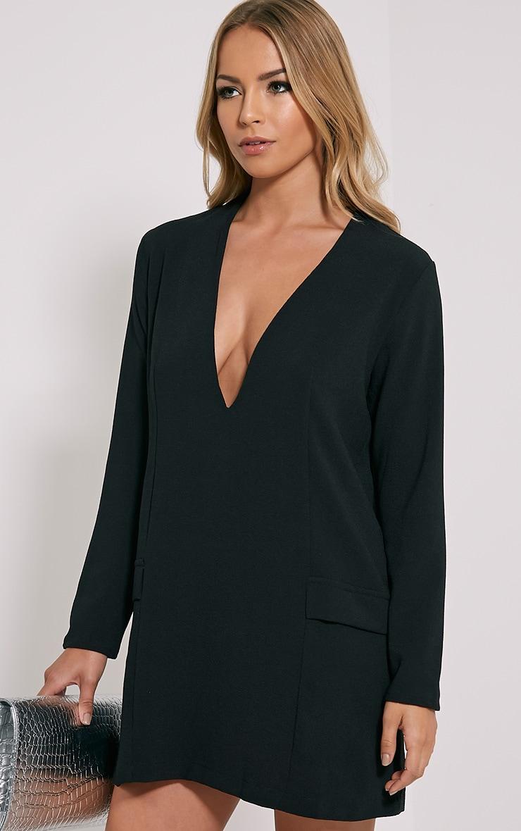 Jemima Black Loose Fit Blazer Dress 4