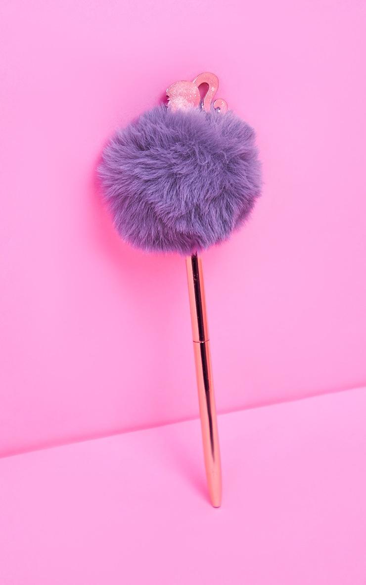 Barbie Rose Gold Pom Pom Pen 1