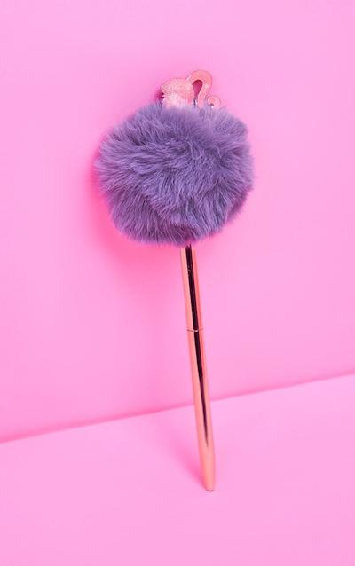 Barbie Rose Gold Pom Pom Pen